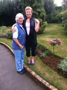 with Mary and her new rose bush...
