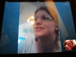our new method of comms whilst abroad - Jen and Skype